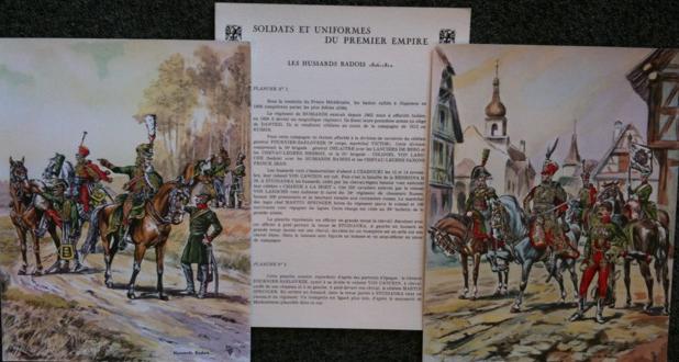 Soldats et uniformes du premier Empire, planches 1 et 2 - Les Hussards Badois 1806-1812