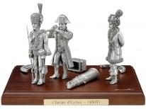 Figurine : Scène charge d'Eylau