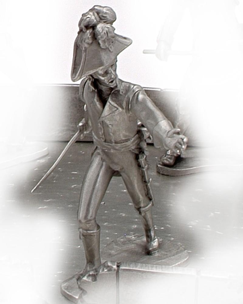 Figurine : le maréchal Augereau au Pont d'Arcole