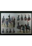 Rousselot n° 106 : Train d'artillerie de la garde, officiers, sous-officiers et trompettes