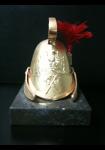 Figurine : Casque de sapeur doré